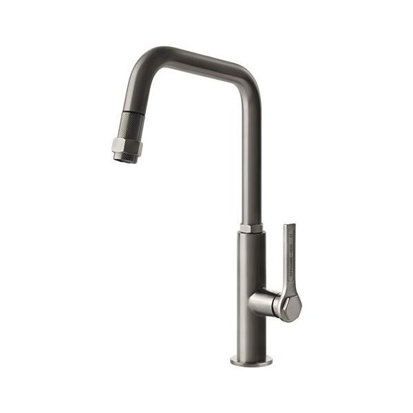 Sink mixer Gessi Officine satin stainless steel 60053