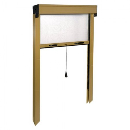 Door mosquito IRS vertical roller shutter ZV06110025062 L. from 140 to 100 cm h. from 250 to 20 cm Aluminum, Bronze color