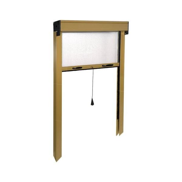 Porte moustiquaire IRS volet roulant vertical ZV06110025062 L. de 140 à 100 cm h. de 250 à 20 cm Aluminium, coloris Bronze