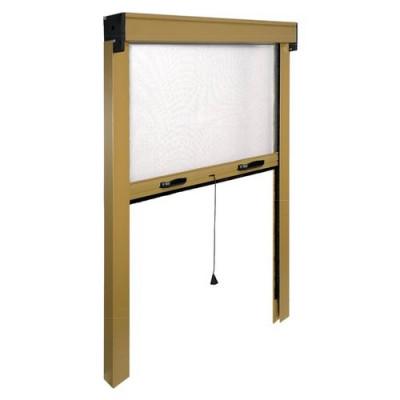 Zanzariera finestra Avvolgibile verticale IRS ZV06112017062 L. da 120 a 100 cm h. da 170 a 20 cm Alluminio, colore Bronzo