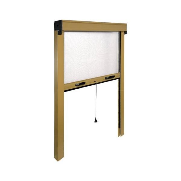 Fenêtre moustiquaire IRS vertical IRS ZV06112017062 L. de 120 à 100 cm h. de 170 à 20 cm Aluminium, couleur Bronze