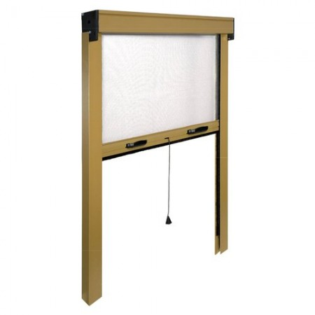 Mosquito net window Vertical IRS ZV06112017062 L. from 120 to 100 cm h. from 170 to 20 cm Aluminum, Bronze color