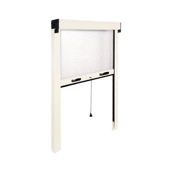Zanzariera finestra Avvolgibile verticale IRS ZV06112017016 L. da 120 a 100 cm h. da 170 a 20 cm Alluminio, colore Bianco