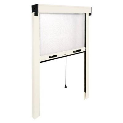 Fenêtre moustiquaire IRS vertical IRS ZV06110017016 L. de 100 à 60 cm h. de 170 à 20 cm Aluminium, coloris blanc