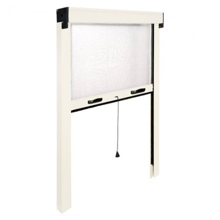 Mosquito net window Vertical IRS ZV06110017016 L. from 100 to 60 cm h. from 170 to 20 cm Aluminum, white color