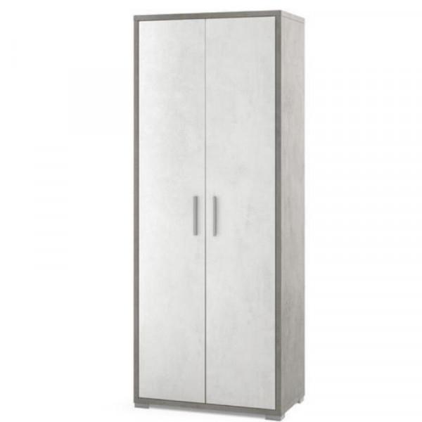 Doublè collection, 2-door cabinet Db354k, H 182 cm melamine material