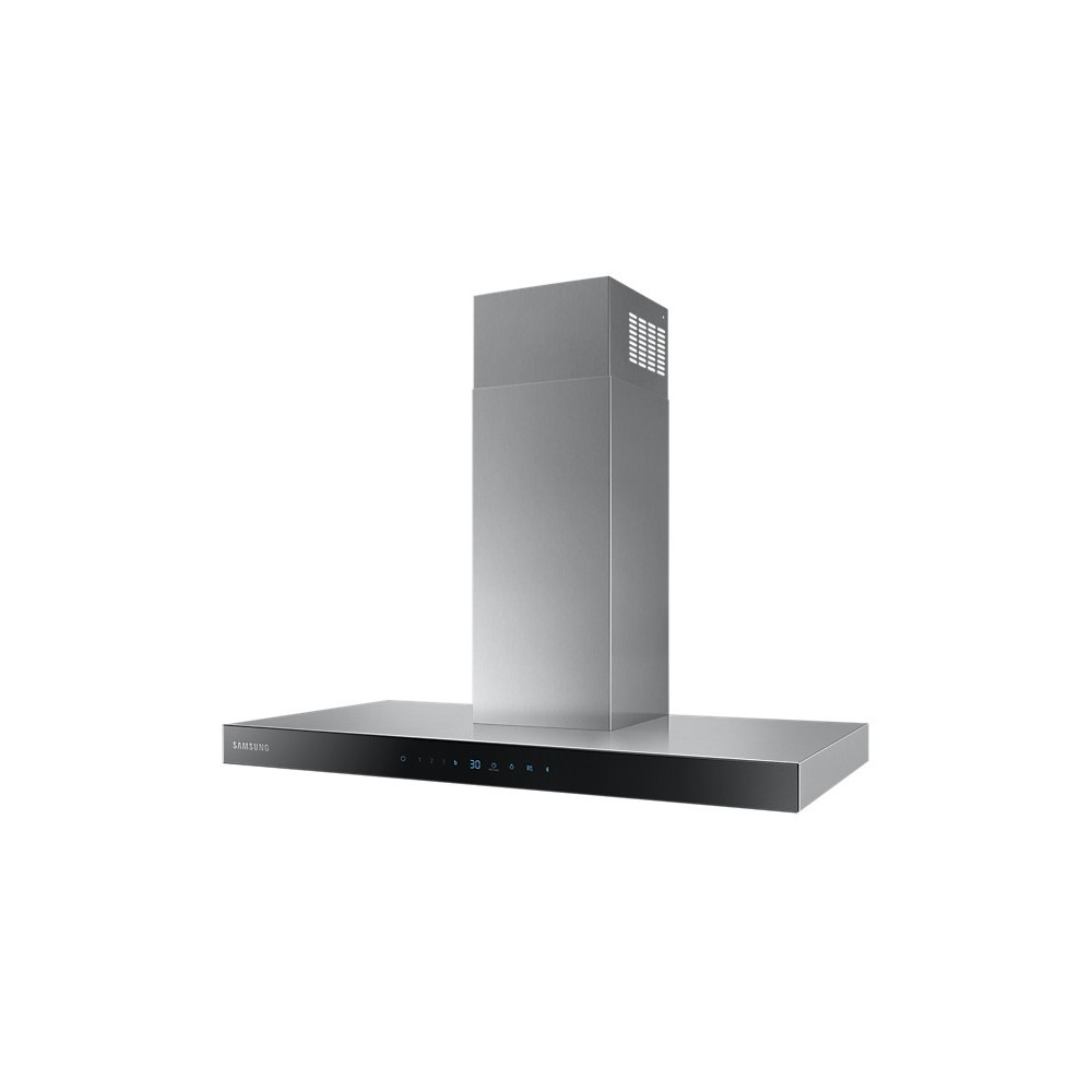 Samsung NK36N5703BS 722 m³ h Wall-mounted extractor hood Black, Stainless steel A