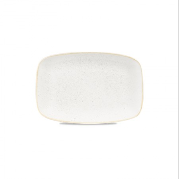 Rectangular ivory plate 34.2 x 23 cm Stonecast