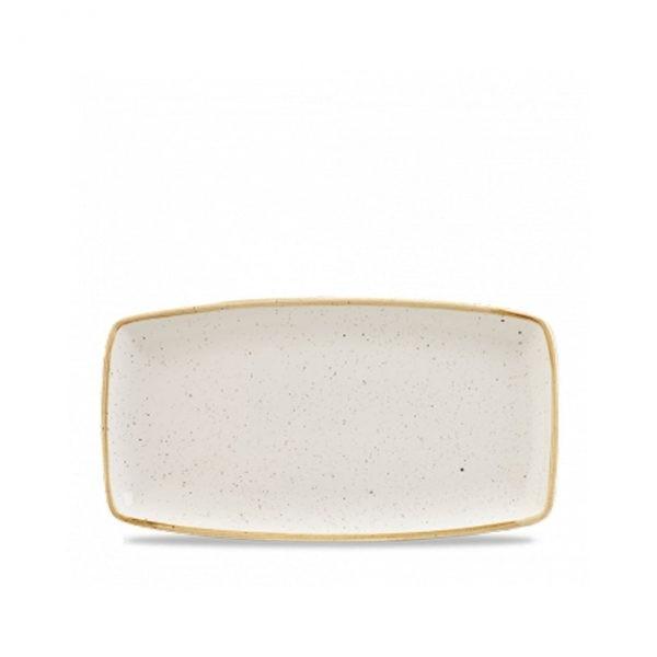 Rectangular ivory plate 35 x 18 cm Stonecast