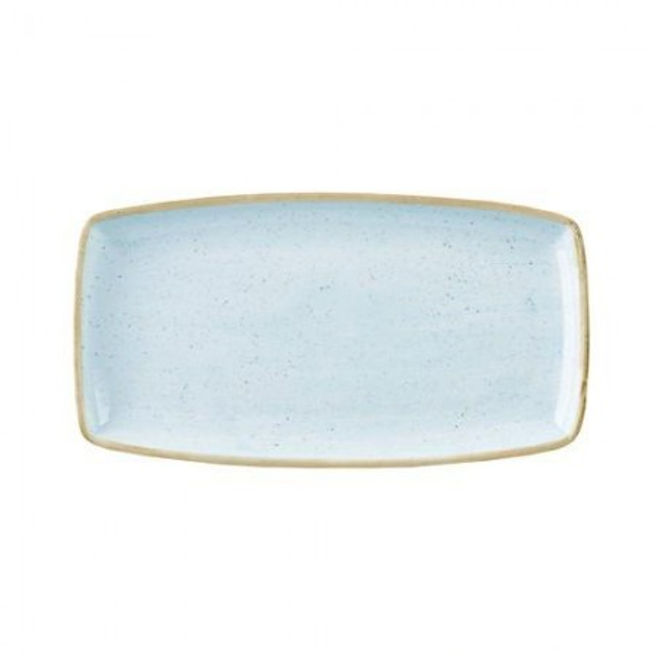 Blue rectangular plate 35 x 18 cm Stonecast