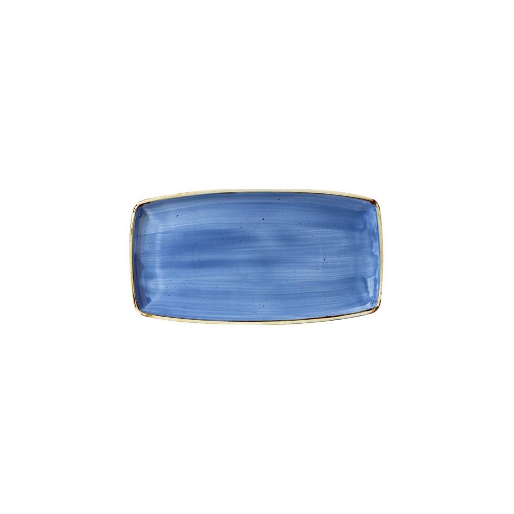 Blue rectangular plate 35 x 18 cm