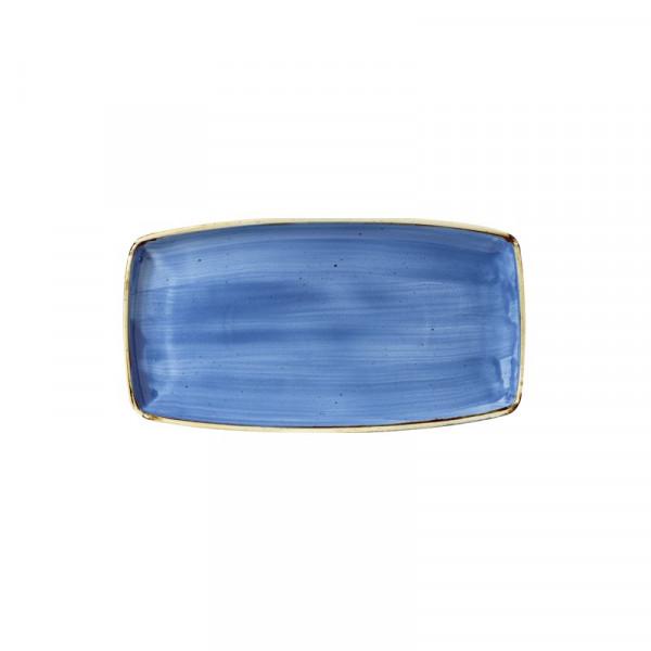 Piatto Blu rettangolare 35 x 18 cm Stonecast
