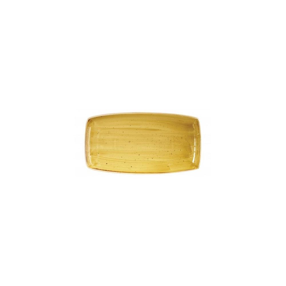 Yellow rectangular plate 35 x 18 cm