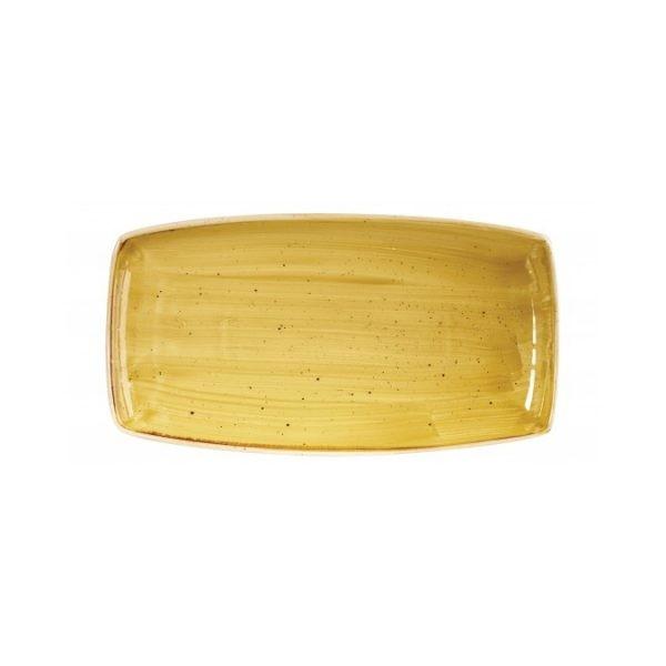Yellow rectangular plate 35 x 18 cm Stonecast