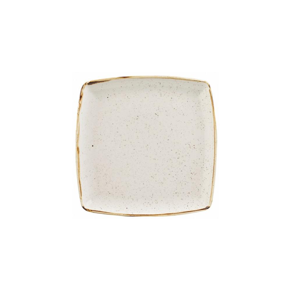 Assiette carrée en ivoire 26,8 cm