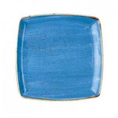 Assiette carrée bleue 26,8...