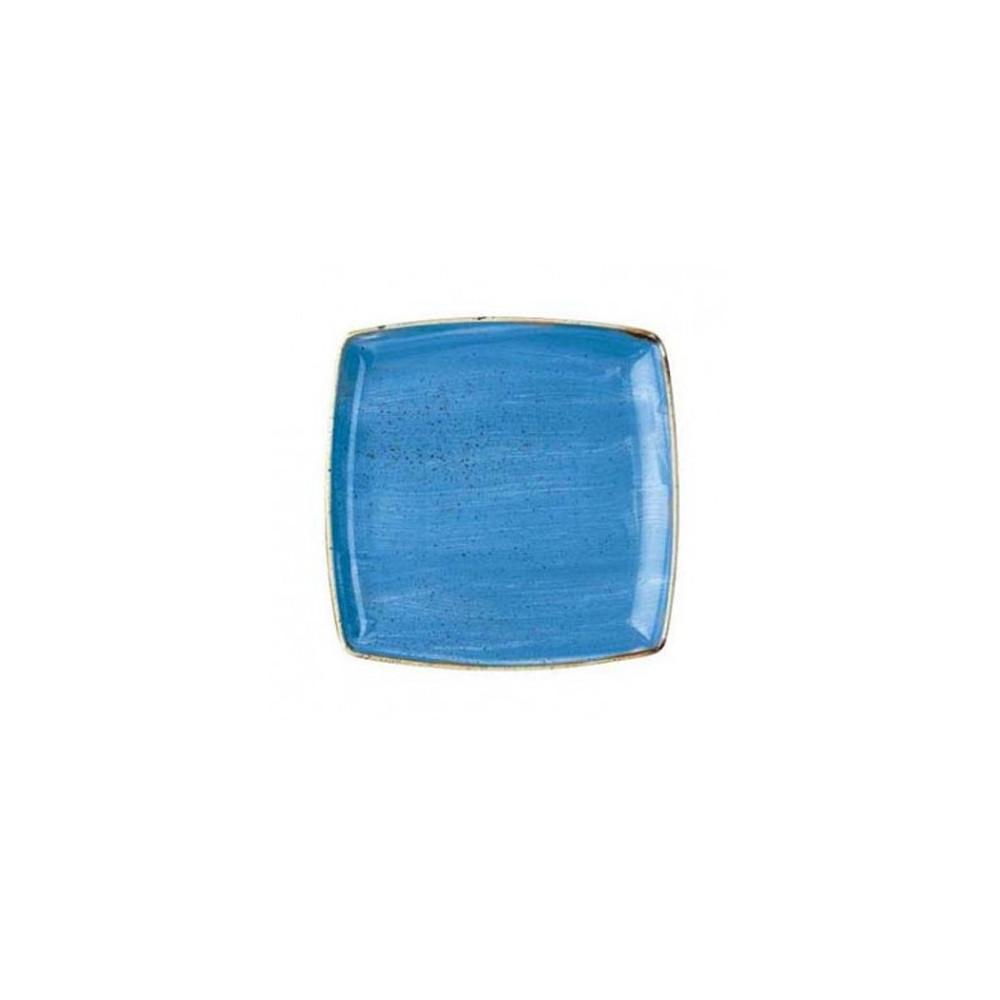 Piatto Blu quadrato 26,8 cm Stonecast