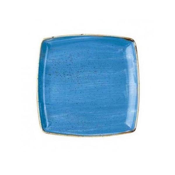 Blue square plate 26.8 cm Stonecast