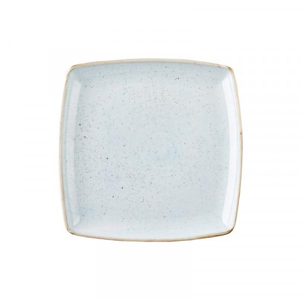 Piatto Azzurro quadrato 26,8 cm Stonecast