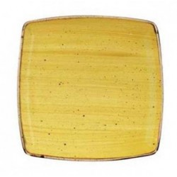 Yellow square plate 26.8 cm...