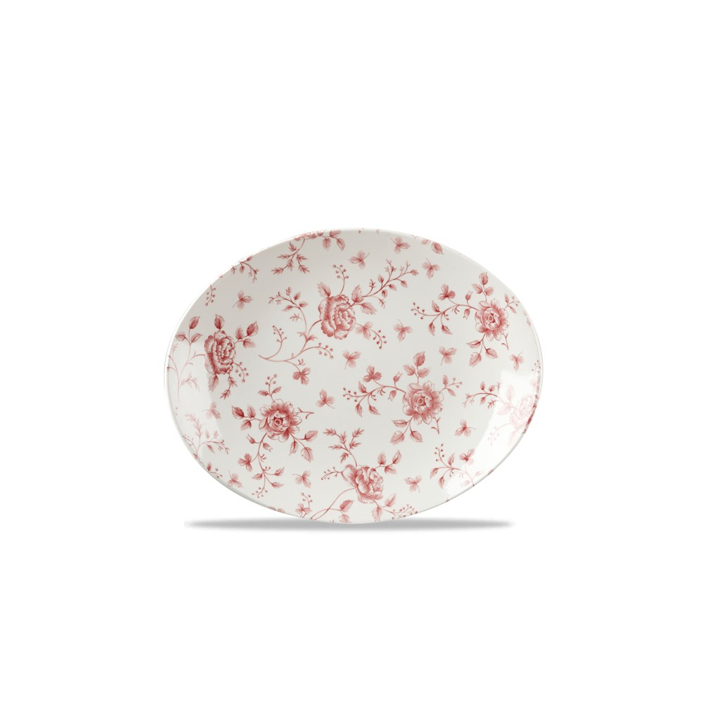 Oval Plate cm 31.7 Vintage-Cramberry