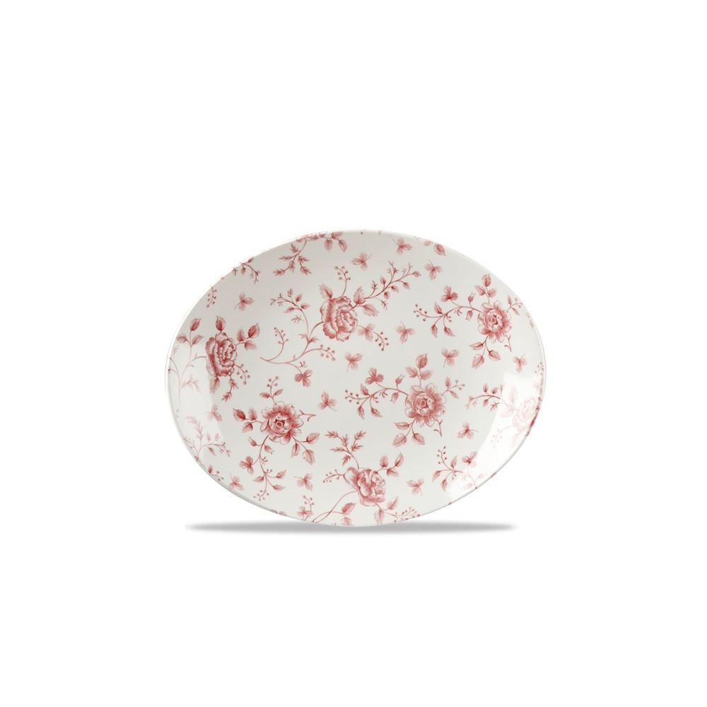 Piatto Ovale cm 31,7 Vintage-Cramberry