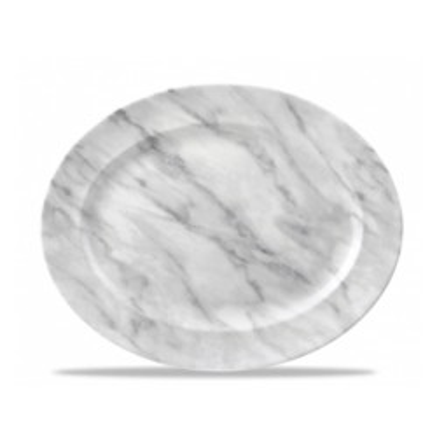 Gray Oval Plate 36 cm gray...