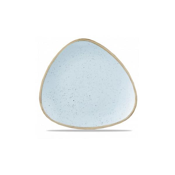 Triangular blue plate 31 cm Stonecast