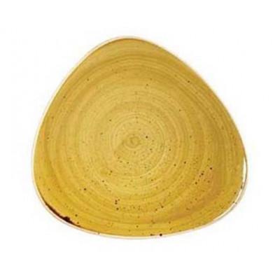 Assiette Triangulaire Jaune 31 cm Stonecast