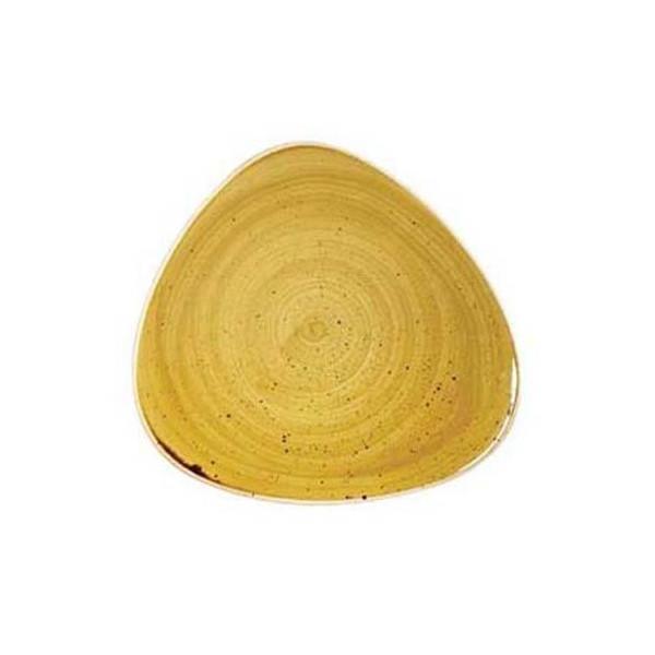 Piatto Giallo triangolare 31 cm Stonecast