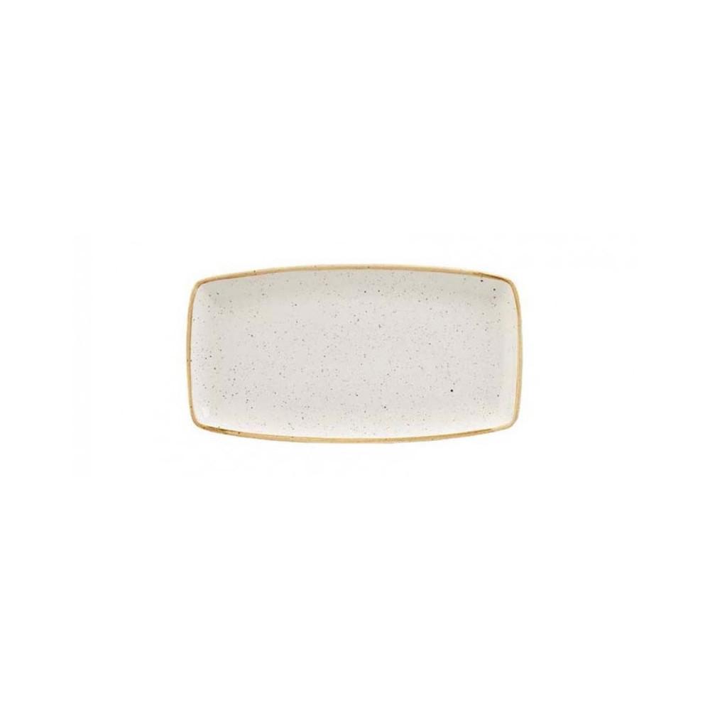 Ivory rectangular plate 29 x 15 cm