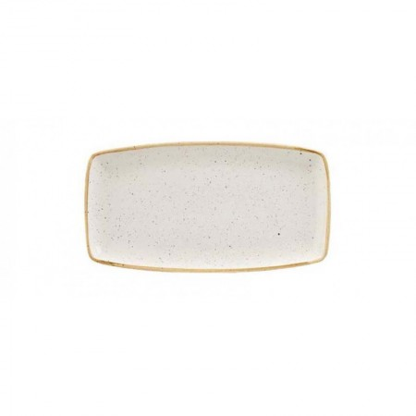 Ivory rectangular plate 29 x 15 cm Stonecast