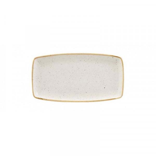 Piatto Avorio rettangolare 29 x 15 cm Stonecast
