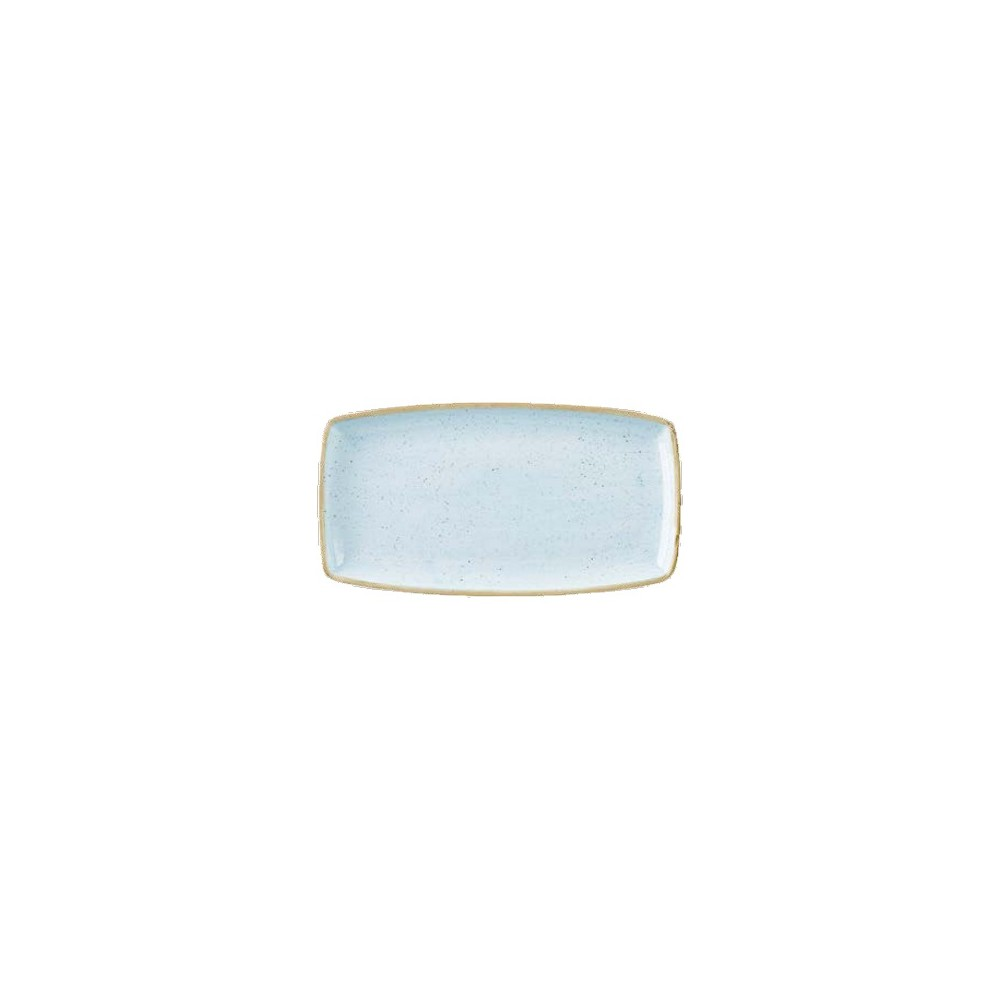 Blue rectangular plate 29 x 15 cm