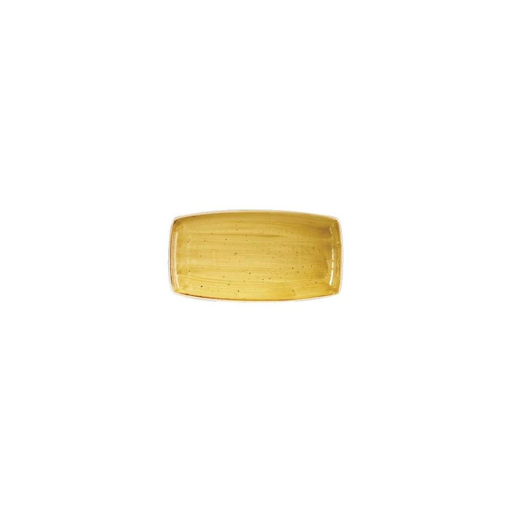 Yellow rectangular plate 29 x 15 cm