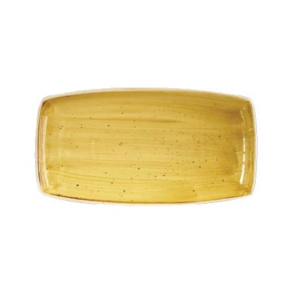 Yellow rectangular plate 29 x 15 cm Stonecast