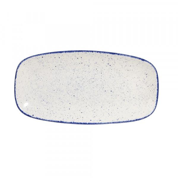 Blue rectangular plate 29 x 15 cm Stonecast Indigo