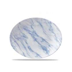 Oval Plate 31 cm Blue Texture
