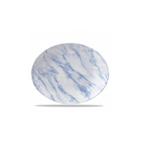 Assiette Ovale 31 cm Texture Bleue