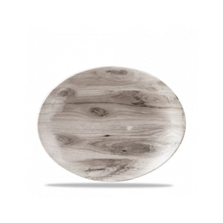 Oval Plate cm 31 Sepia Texture