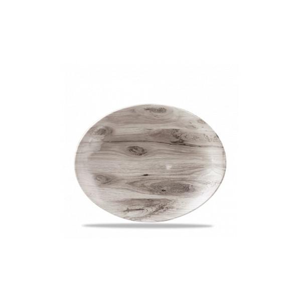 Piatto Ovale cm 31 Texture Seppia