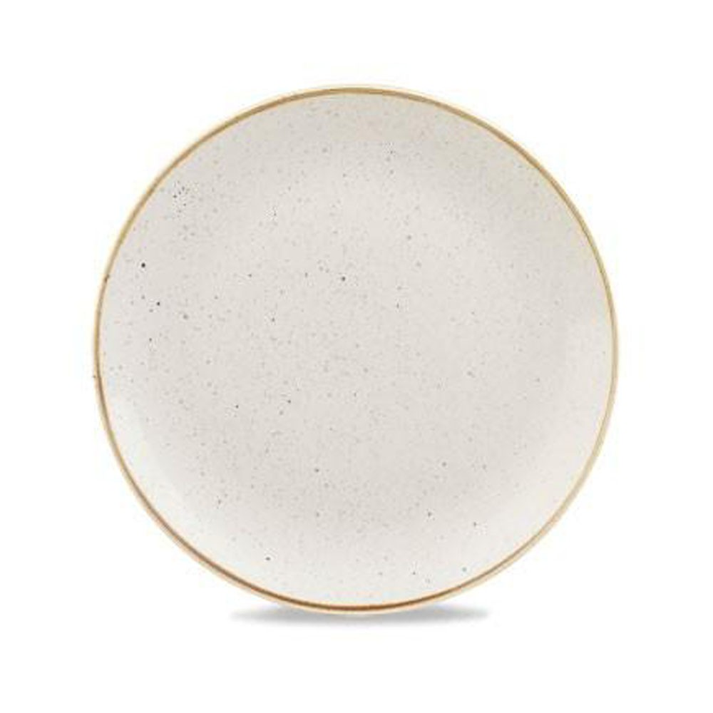 Ivory plate coupe 32 cm Stonecast