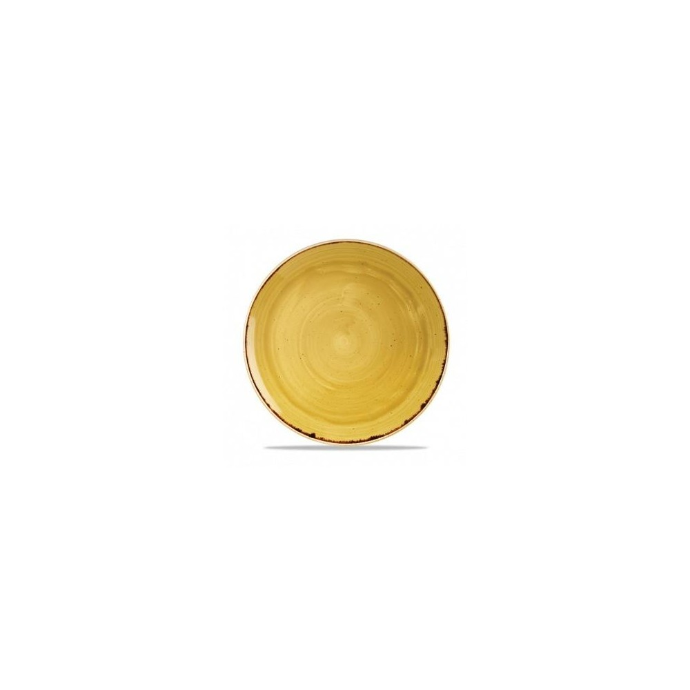 Assiette coupe jaune 32 cm Stonecast