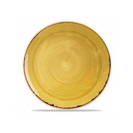Yellow coupe plate 32 cm Stonecast