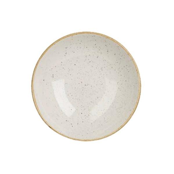 Ivory plate 31 cm deep Stonecast