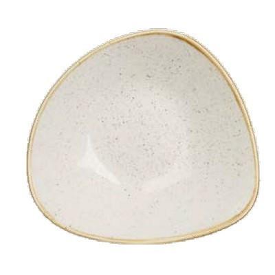 Triangular ivory deep plate...