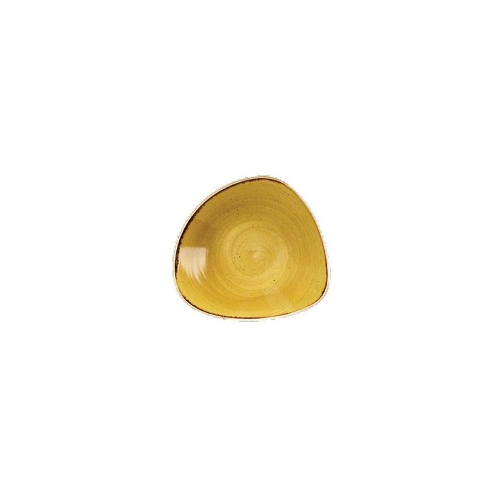 Piatto fondo giallo triangolare 23 cm