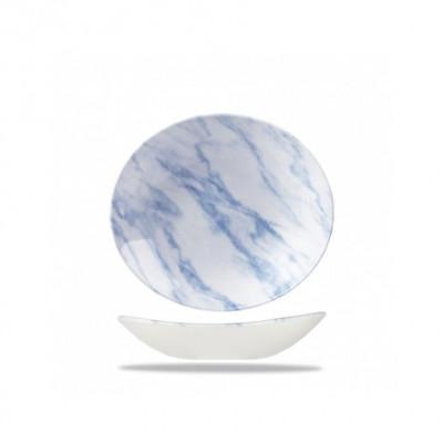 Piatto Ovale cm 25 Texture Blu
