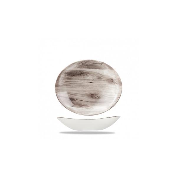 Piatto Ovale cm 25 Texture Seppia