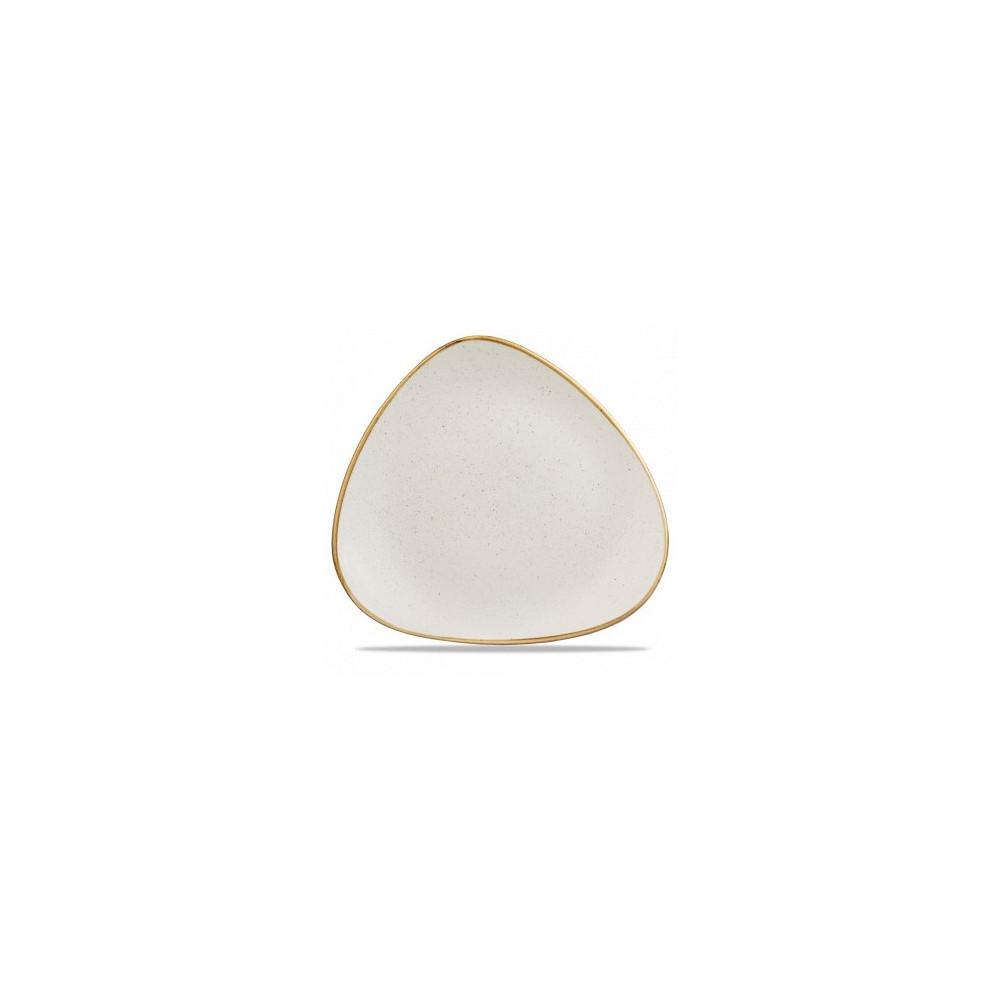 Triangular ivory plate 26 cm Stonecast